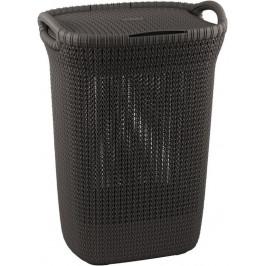 CURVER 41078 Koš na prádlo s víkem KNIT koš na prádlo 57L - hnědý