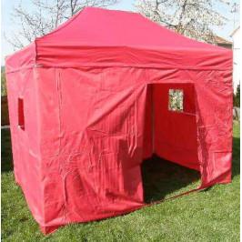 Tradgard DELUXE 41068 Zahradní párty stan  nůžkový + boční stěna - 3 x 4,5 m červená