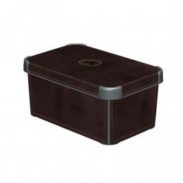 CURVER 33021 Plastový úložný box DECO - S - LEATHER