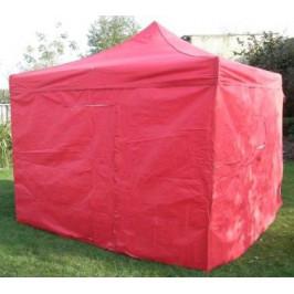 Tradgard DELUXE 41062 Zahradní párty stan  nůžkový + boční stěny - 3 x 3 m červená