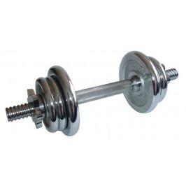 CorbySport 6318 Činka nakládací jednoruční, chromová  - 5,5 kg