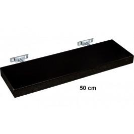 STILISTA SALIENTO 30868 Nástěnná police  - hnědočerná 50 cm