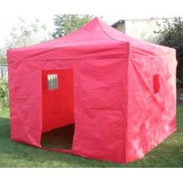 Tradgard DELUXE 41044 Zahradní párty stan  nůžkový + boční stěny - 3 x 3 m červená