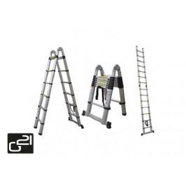G21 GA-TZ16-5M Teleskopický žebřík štafle/žebřík