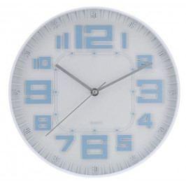 Koopman 35242 Nástěnné hodiny skleněné RELIÉF 30 cm - MODRÁ