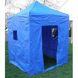 Tradgard 41025 Zahradní párty stan DELUXE nůžkový + boční stěny - 2 x 2 m modrý