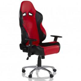 RACEMASTER® 32563 Kancelářská otočná židle RS Series, černá/červená