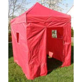 Tradgard DELUXE 41024 Zahradní párty stan  nůžkový + boční stěny - 2 x 2 m červený