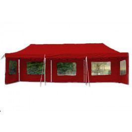 Garthen PROFI 33138 Zahradní skládací párty stan - červená 3 x 9 m