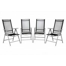 Garthen 36159 Sada 4 kusů hliníková skládací židle - černá