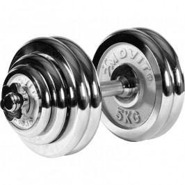 Jednoruční chromovaná činka MOVIT 30 kg