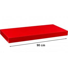 STILISTA VOLATO 31064 Nástěnná police  - matná červená 90 cm