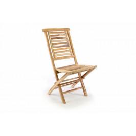 Divero Hantown 35519 Zahradní židle skládací z masivního týkového dřeva