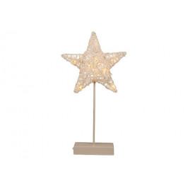 Nexos Trading GmbH & Co. KG 28386 Vánoční dekorace - svítící hvězda na stojánku - 40 cm, 10 LED diod