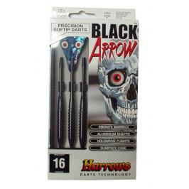 Šipky s plastovým hrotem HARROWS SOFT BLACK ARROW  16g