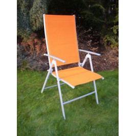 Tradgard 3957 Zahradní polohovatelné křeslo ANF-26C oranžové
