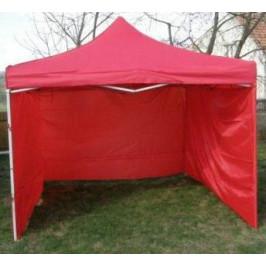 Tradgard CLASSIC 40977 Zahradní párty stan  nůžkový + boční stěny - 3 x 3 m červený
