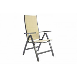Garthen DELUXE 40764 Zahradní skládací židle - krémová