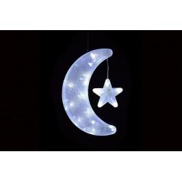 Nexos 864 Vánoční dekorace - měsíc s hvězdou - studeně bílé