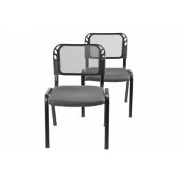Garthen 38254 Sada stohovatelné kongresové židle 2 kusy - šedá