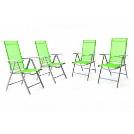 Garthen 36001 Sada 4 kusů hliníková skládací židle - zelená