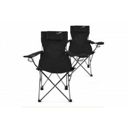 Divero 35956 Kempingová sada 2 ks skládacích židlí  - černá