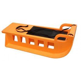 Kamzík plastové sáně A2043 oranžové