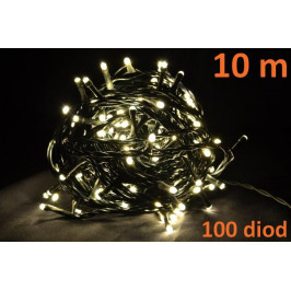 Nexos Trading GmbH & Co. KG 4266 Vánoční LED osvětlení 10m - teple bílé, 100 diod