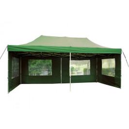 Garthen 395 Zahradní párty stan 3 x 6 PROFI - nůžkový - zelený