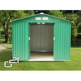 G21 23886 Zahradní domek  GAH 580 - 251 x 231 cm, zelený