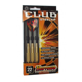 Šipky s kovovým hrotem HARROWS STEEL CLUB 22 g
