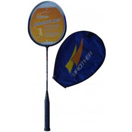 Badmintonová pálka (reketa) s pouzdrem odlehčená ocel