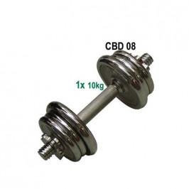 CorbySport 4556 Nakládací činka jednoruční, chromovaná - 10kg