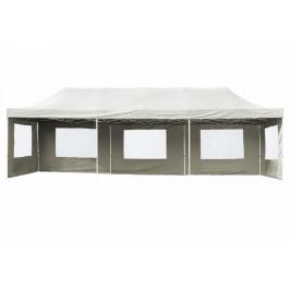 Garthen PROFI 406 Zahradní skládací párty stan - bílá 3 x 9 m