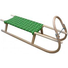sáně 110cm dřevěné zelené