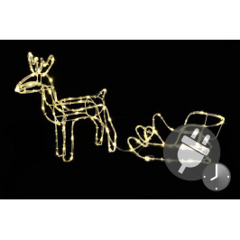 Nexos 42990 Svítící vánoční sob - světelná dekorace