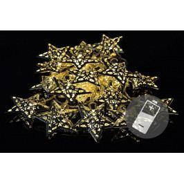 Nexos 33484 Vánoční LED osvětlení - stříbrné hvězdy - teple bílé 10 LED