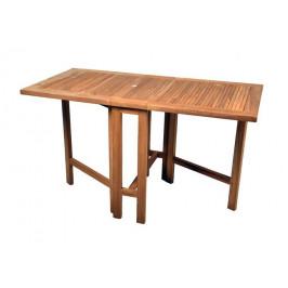 Divero 1593 Zahradní skládací stůl z teakového dřeva