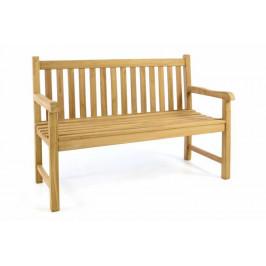 Divero 53824 Zahradní lavice - ošetřené týkové dřevo - 130 cm