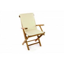 Divero 47245 Skládací zahradní židle vč. polstrování - krémová