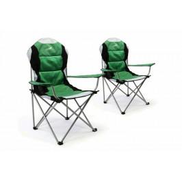 Divero Deluxe 35957 Sada 2 ks skládací kempingová rybářská židle - zeleno/černá