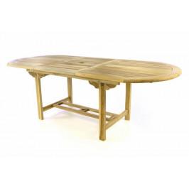 Divero 47273 Zahradní oválný stůl - roztahovatelný - 170/230 cm