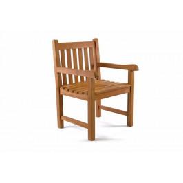 Divero 40768 Exkluzivní židle z týkového dřeva