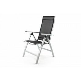 Garthen 35115 Extra široká zahradní židle polohovatelná - černá