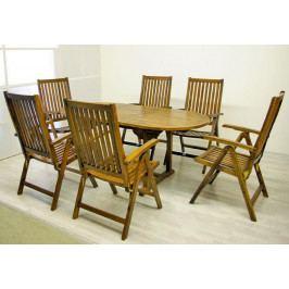 Divero 2284  zahradní nábytek z akátového dřeva  180 x 240 x 75 x 120 cm