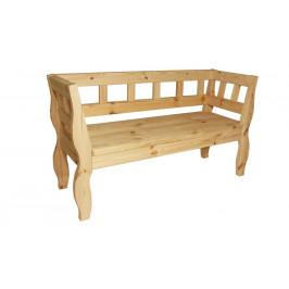 Gaboni 55581 Zahradní RETRO lavice bez povrchové úpravy - 157 cm