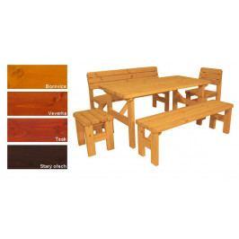 Gaboni 55578 Zahradní dřevěný set II. - s povrchovou úpravou