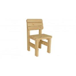 Gaboni 55481 Zahradní dřevěná židle II. - bez povrchové úpravy