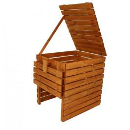 Gaboni 55479 Zahradní dřevěný kompostér - 800l