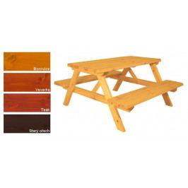 Gaboni 55341 Zahradní set piknik - s povrchovou úpravou - 150 cm
